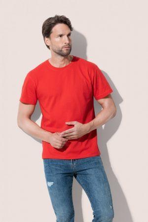Κόκκινο διαφημιστικό t-shirt από την εταιρεία Μπαξεβανίδης Α.Ε.